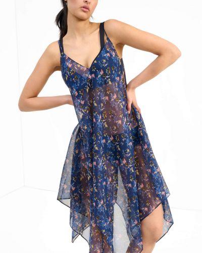 Niebieski pareo w kwiaty Orsay