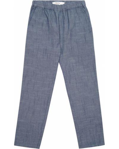 Ватные хлопковые синие брюки Bonpoint