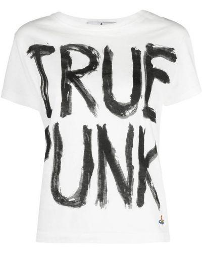 Белая футболка с надписью с вырезом Vivienne Westwood