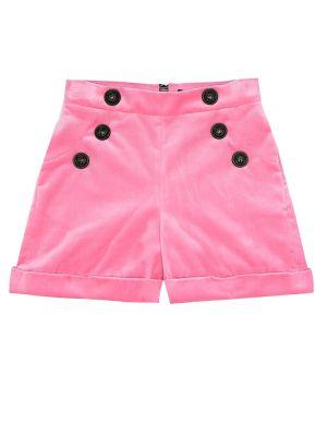 Bawełna bawełna różowy szorty na przyciskach Balmain Kids