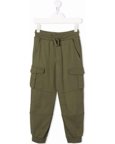 Zielone spodnie bawełniane Stella Mccartney Kids