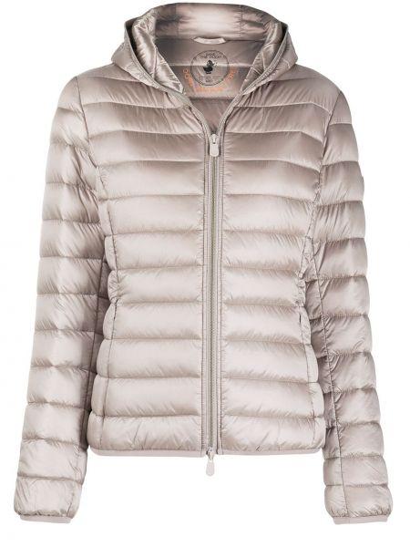 Классическая нейлоновая куртка с капюшоном с жемчугом с карманами Save The Duck