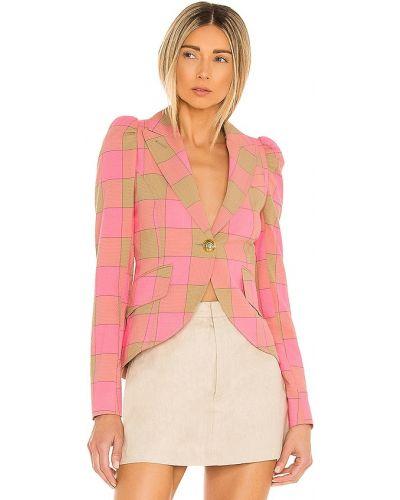 Розовый пиджак на пуговицах из вискозы Smythe