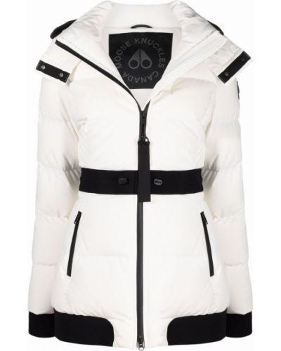 Дутая куртка - белая Moose Knuckles