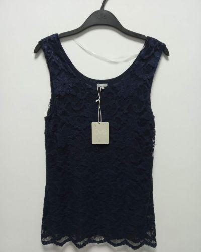 Синяя гипюровая блузка Ovs