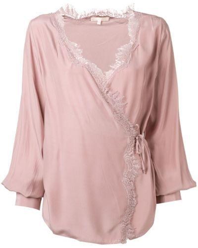 Блузка кружевная розовая Gold Hawk