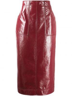 С завышенной талией красная юбка карандаш на молнии Philosophy Di Lorenzo Serafini