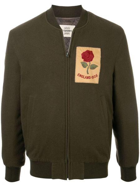 Zielona kurtka pikowana wełniana Kent & Curwen