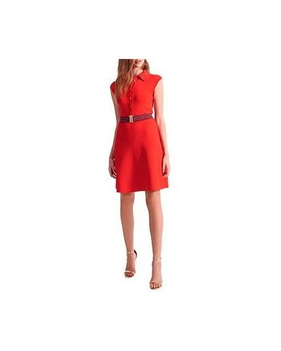 Платье из вискозы - красное Luisa Spagnoli