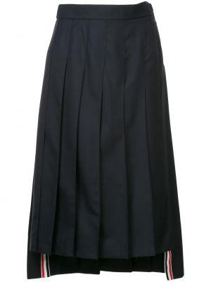 Плиссированная юбка миди шелковая Thom Browne