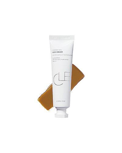 Бежевая легкая кожаная основа для макияжа с декоративной отделкой Cle Cosmetics