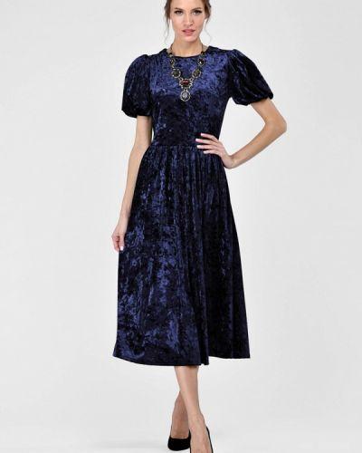 Платье осеннее синее Alisia Fiori