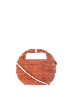 Оранжевая сумка-тоут круглая Cecchi De Rossi