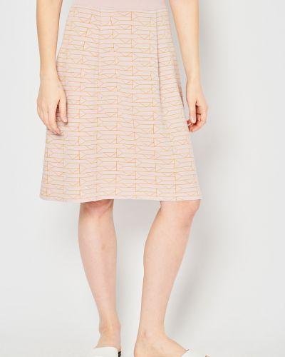 Розовая трикотажная юбка мини с поясом Stefanel