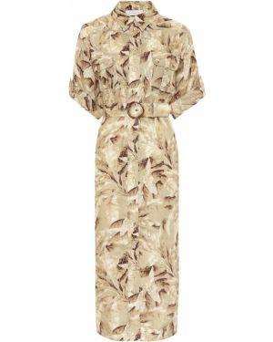 Платье миди сафари льняное Zimmermann