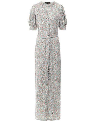Повседневное платье миди - бирюзовое Poustovit