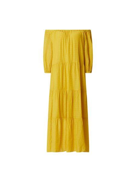 Sukienka rozkloszowana - żółta Set