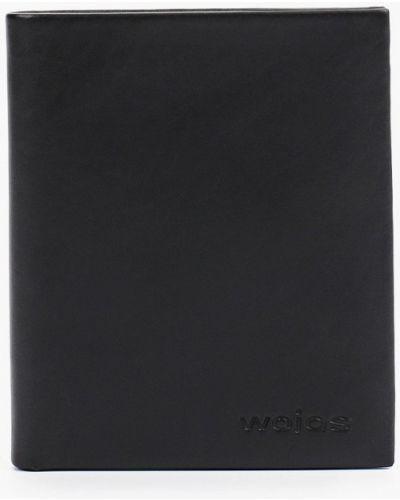 Черный кожаный портмоне Wojas