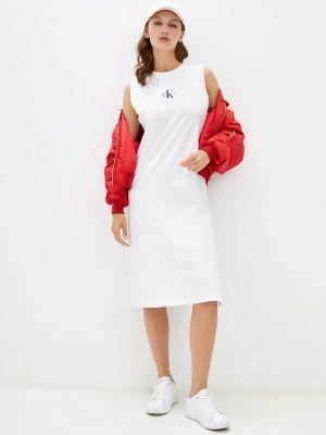 Джинсовое платье - белое Calvin Klein Jeans