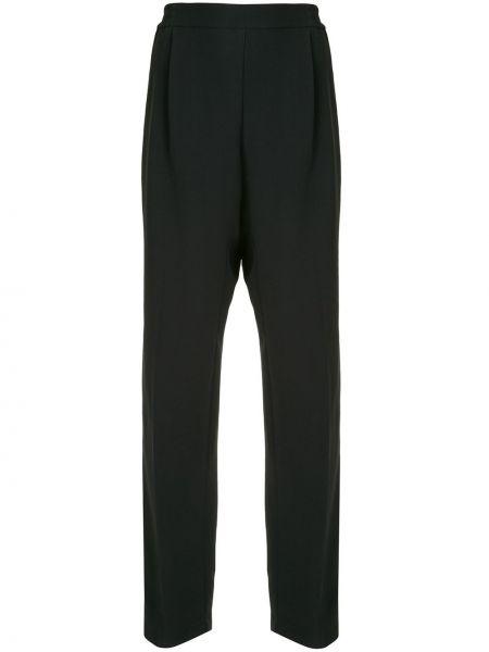Черные прямые деловые брюки с высокой посадкой N°21