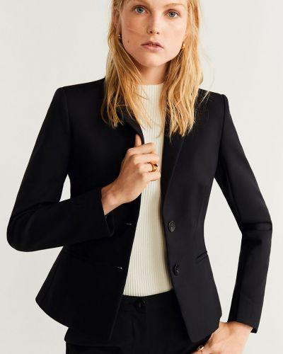 Классический пиджак прямой черный Mango