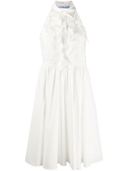 Хлопковое платье - белое Blumarine