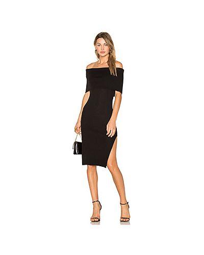 Платье с разрезом в рубчик Line & Dot