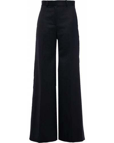 Расклешенные шерстяные черные брюки Bella Freud