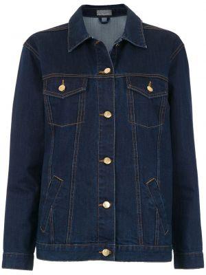Синяя джинсовая куртка с манжетами на пуговицах Amapô