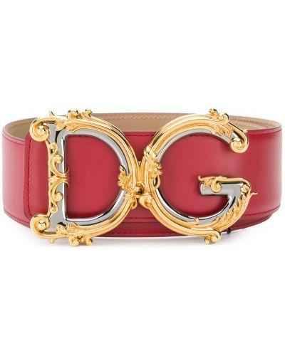 Ремень красный с пряжкой Dolce & Gabbana