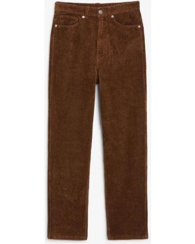 Брюки вельветовые - коричневые Monki