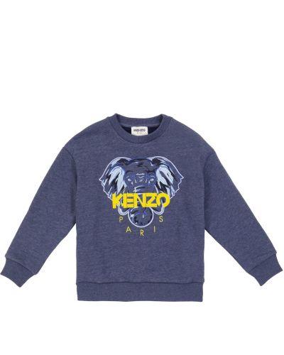 Хлопковый свитшот - синий Kenzo Kids