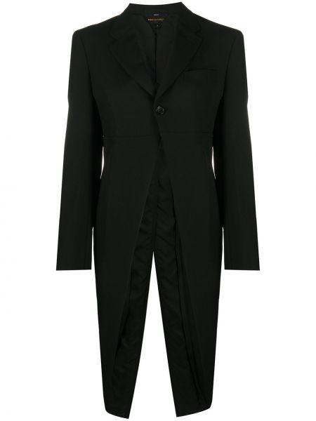 Черный удлиненный пиджак с карманами на пуговицах Comme Des Garçons
