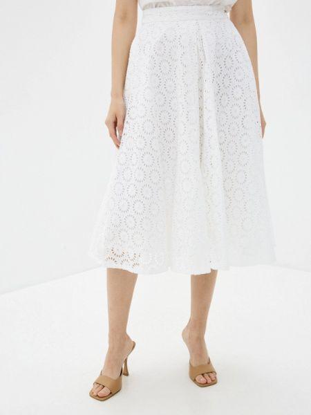 Джинсовая юбка широкая белая Guess Jeans
