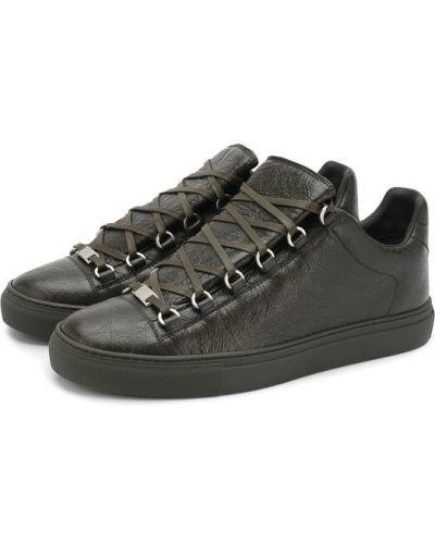 Кеды кожаный на шнуровке Balenciaga