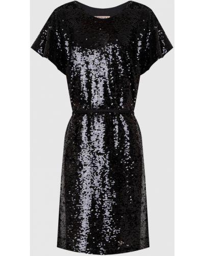 Платье миди с пайетками - черное Twin-set