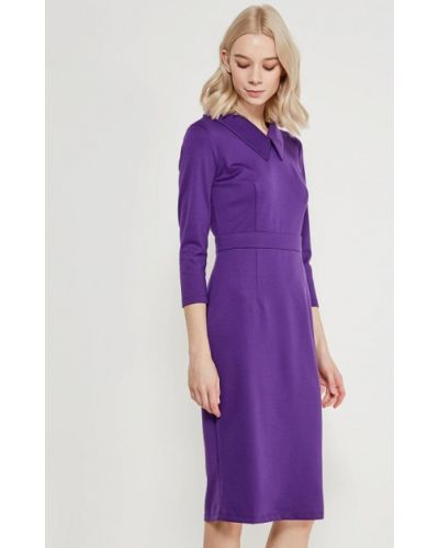Фиолетовое платье осеннее A-a By Ksenia Avakyan