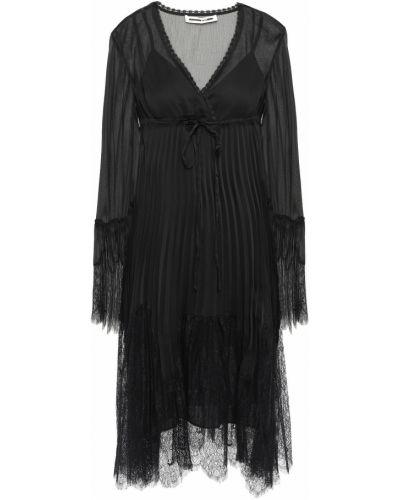 Черное платье на шнуровке Mcq Alexander Mcqueen