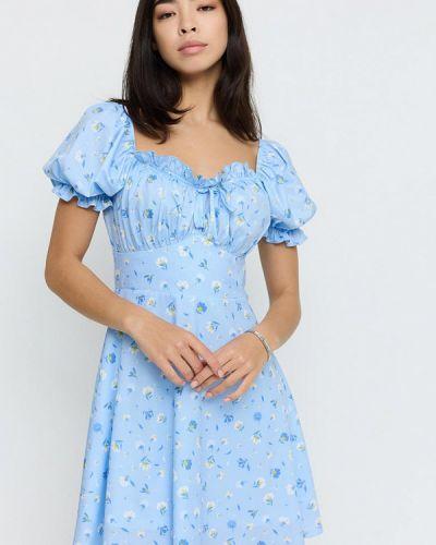 Голубое платье осеннее Cardo