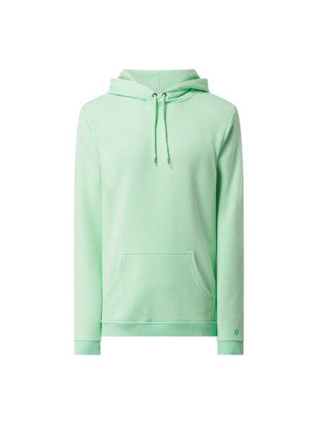 Zielona bluza kangurka z kapturem bawełniana Raizzed