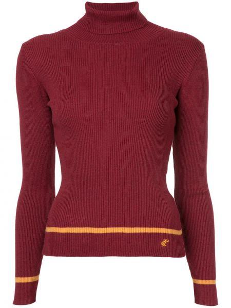 Кашемировый красный свитер с воротником Loveless