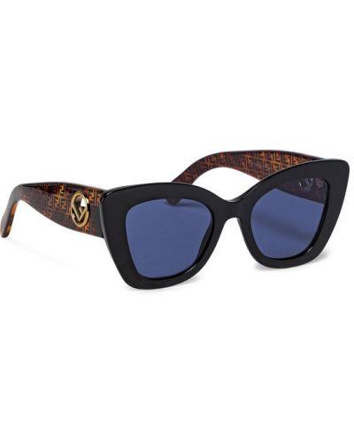 Czarne okulary Fendi