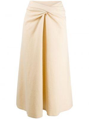 Шерстяная юбка миди Lemaire