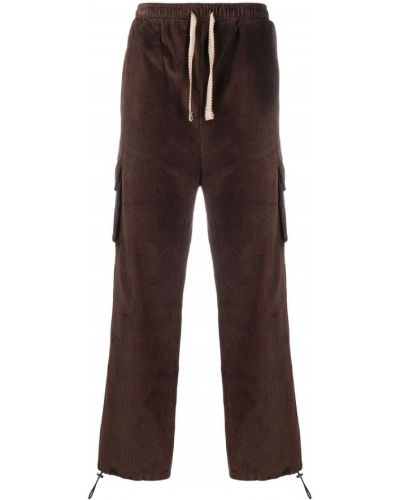 Brązowe spodnie sztruksowe Drole De Monsieur