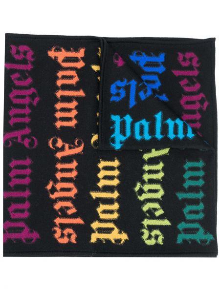 Bawełna bawełna czarny szalik Palm Angels