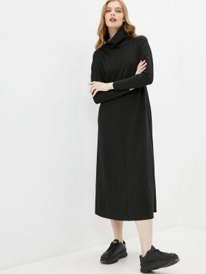 Повседневное черное платье синар