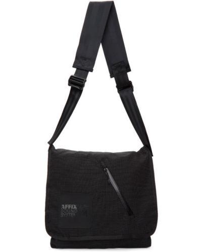 Черная нейлоновая сумка мессенджер с карманами Affix