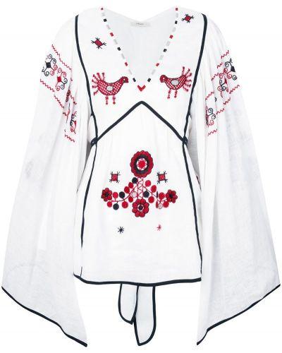Блузка с вышивкой белая Vita Kin