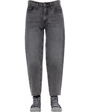 Czarne jeansy skorzane Levi's Red Tab