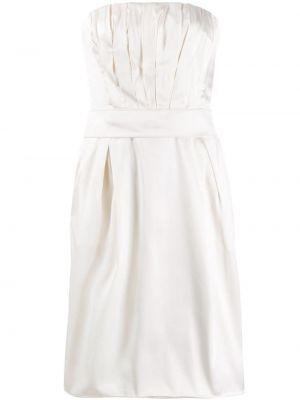 Плиссированное белое платье со складками на молнии Dolce & Gabbana Pre-owned